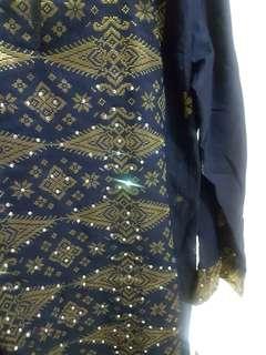 Baju kurung songket - blue