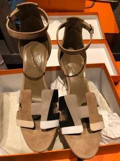 Hermes 高踭涼鞋 新色