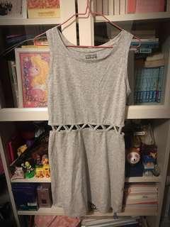 6ixty 8ight 灰色棉質露腰連身裙