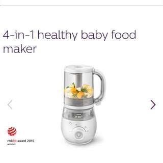 Phillips 4 In 1 Healthy Baby Food Maker