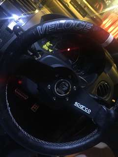 Sparco Veloce Steering with Boss Kit