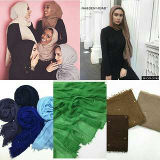 2018 New Style - Arabic Fringe Shawl with pearls