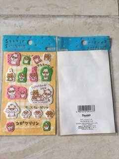 Sanrio CK鼠 CoroCoroKuririn Kuririn 舊版 絨毛 貼紙