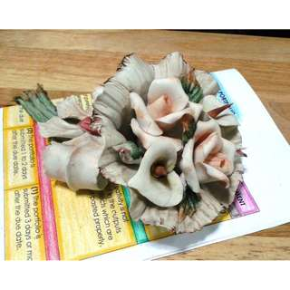 Ceramic Floral Paper Weight