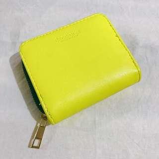 Stradivarius neon yellow wallet