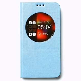 Samsung S5 Z View Flip Cover - Blue