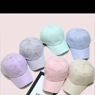 Pastel Caps -Suede Material