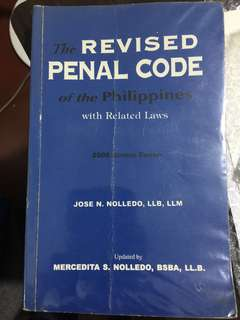rpc revised penal code law book