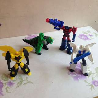 Take all Transformers Happy Meal Toys Collection