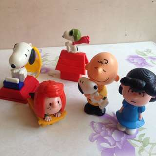 Take all Snoopy Happy Meal Toys