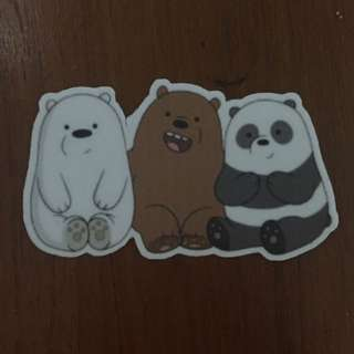 We Bare Bears Individual stickers