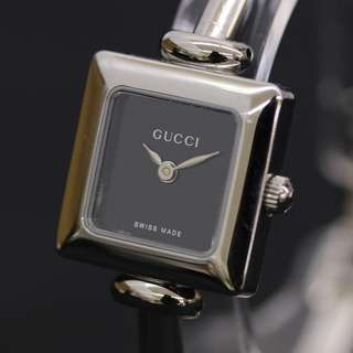 Gucci Bangle Watch Ladies Silver Quartz 1900L (SHIP FROM JAPAN)