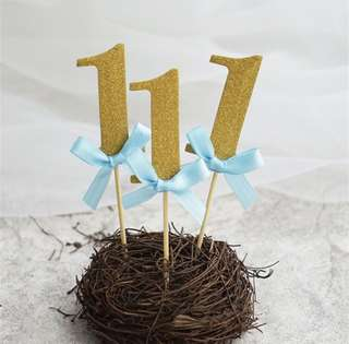 (Free Postage!) Baby 1st Birthday Cupcake Toppers