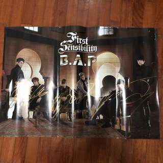 BAP autographed First Sensibility poster