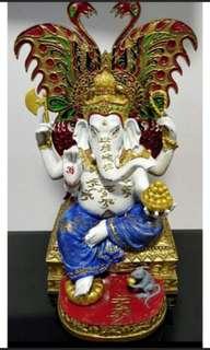 Kruba Krissana Phra Pikanet / Ganesha with butterfly Bucha