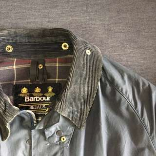 Vintage Barbour Bedale Navy England cut