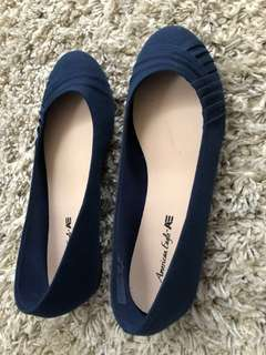 American Eagle Navy Flats (Size 7 1/2)
