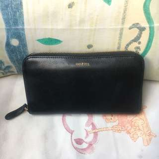 [包郵] GOLD PFEIL Black Leather Long Wallet