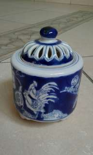 Ceramic Blue & White Mini Vessel