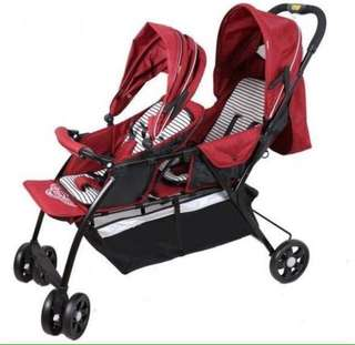 Maroon Twin Stroller Double