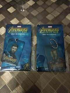 Infinity War EXCLUSIVE Dog Tag