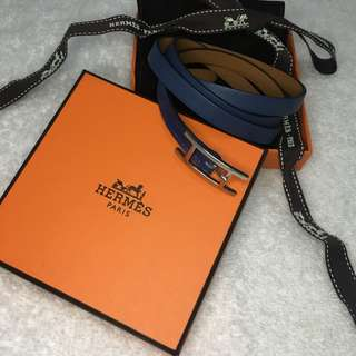 Hermes Hapi 3 Leather Bracelet