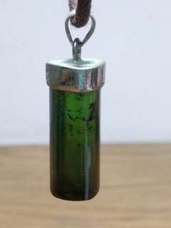 天然 綠 碧璽 五角柱型 吊咀 6.8g (包郵)