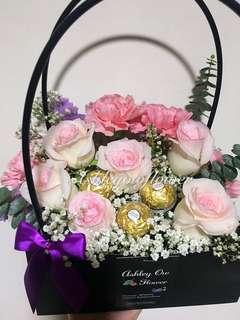 Flower Box | Fresh Rose | Flowers Bouquet
