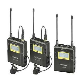 Saramonic UWMIC9 RX9 + TX9 + TX9 (2 Transmitters), Wireless Dual Lavalier Mic System