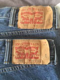 Levi's 501 Buttonfly Jeans 38x34