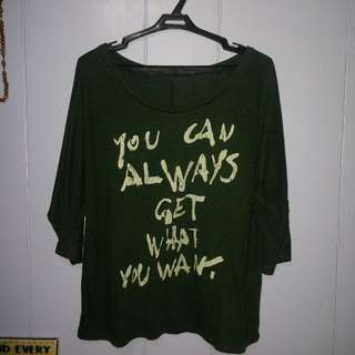Dark Green Longsleeves blouse