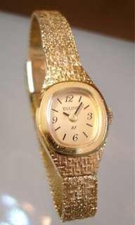 BULOVA 高級鎏金系列 純手工製閃亮錶帶  採用頂級天價手錶才使用的紅寶石黃肉機芯  高端晚宴女士金錶,值得珍藏!
