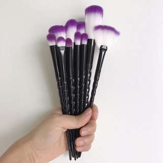 10 pcs. Unicorn Brush Set