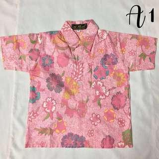 (A1)- Boy's Batik Shirt