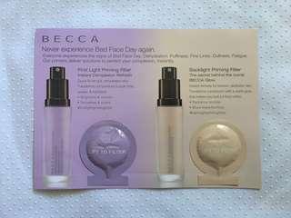 Becca Primers Sample Card