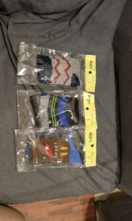 3 pcs boy socks, new, suitable 2-3yrs old