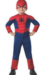 Marvel spiderman deluxe ultimate toddler halloween costume 2 to 3 t