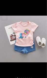 Baby girl unicorn top pants set infant toddler newborn