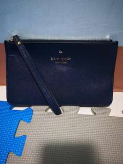 Authentic Kate Spade New York Wristlet (Navy Blue)