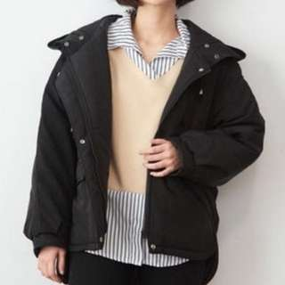 Oversize Jacket With Hoodie