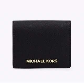 michael kors jet set travel saffiano leather card holder