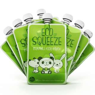 Eco Squeeze Reusable Food Pouch(8 packs)