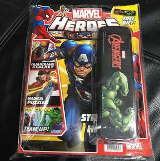 Marvel Heroes Book (with free pencil case)