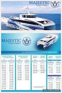 Batam Ferry Ticket by Majestic ⛴ Ferry