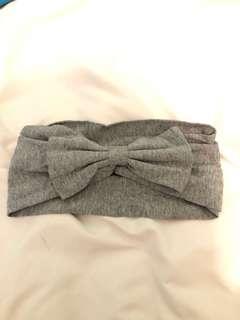 Grey bow headband