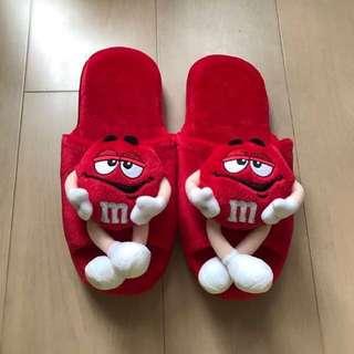 m&m slippers 家居拖鞋。毛拖鞋