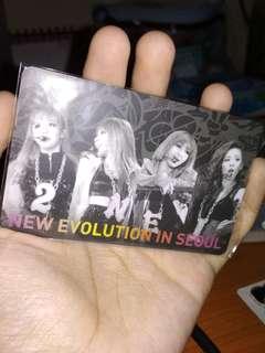 2NE1 2012 Concert Live CD Special YG Card
