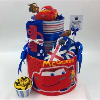 2 tier Diapers cake