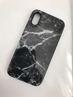 Black Marble iPhone X Lumee Case