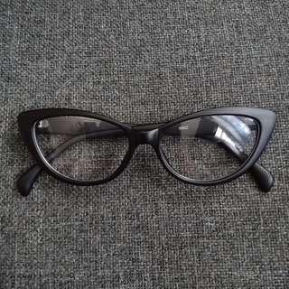 Black Cat's Eye No Grade Nerdy Eye Glasses